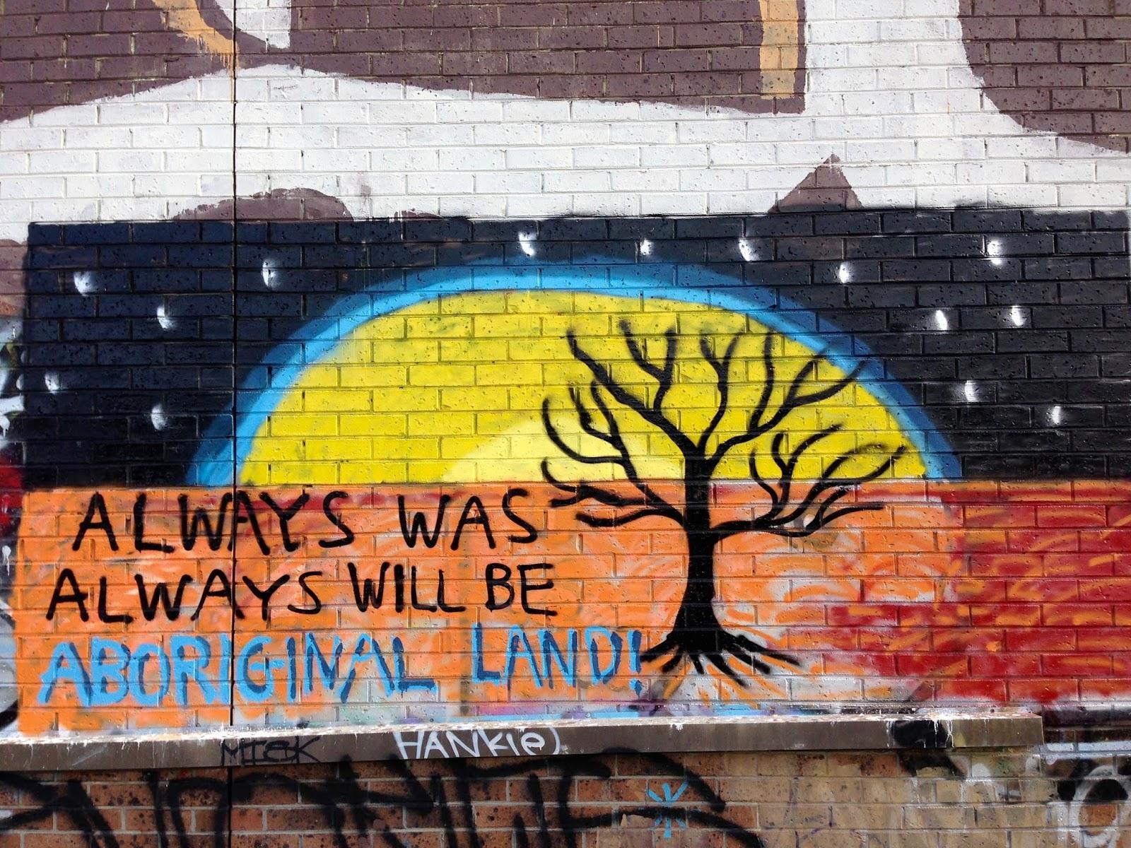Green Gourmet Giraffe: Aboriignal Street Art in Melbourne (2) for ...