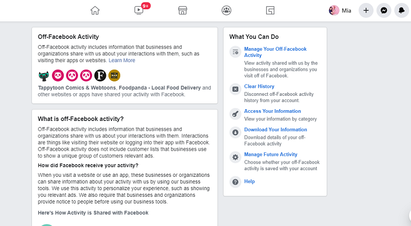 Did you know: Facebook knows what you do outside their app?