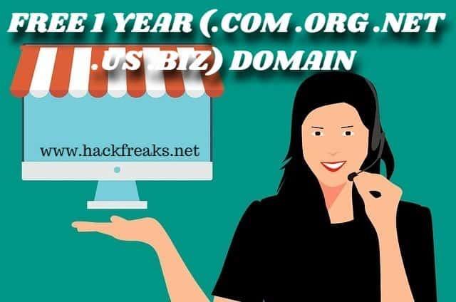 FREE 1 YEAR (.COM .ORG .NET .US .BIZ) DOMAIN FROM YAHOO!