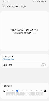 Mengubah Ukuran Font HP Android