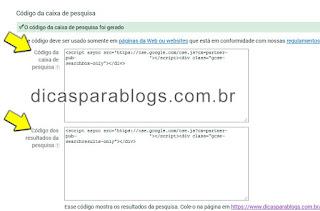 código caixa pesquisa personalizada google