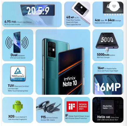 Infinix Note 10 and Note 10 Pro Launched in India, Price, Specs, Features