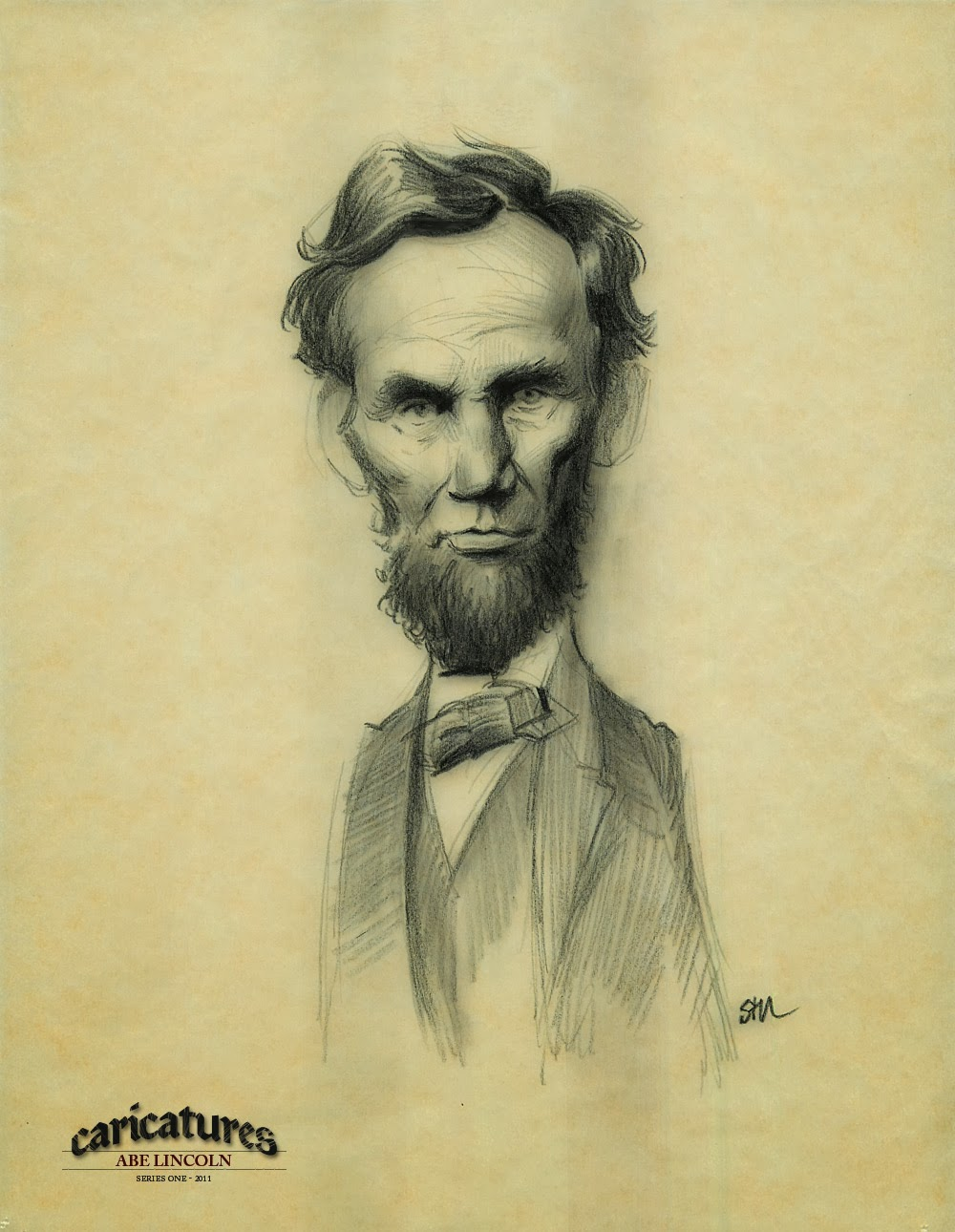 Most Interesting Facts >> Human Face: Caricature: Abraham Lincoln
