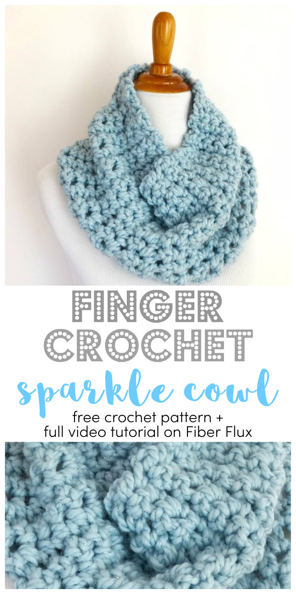 Fiber Flux Free Crochet Patternnger Crochet Sparkle Cowl