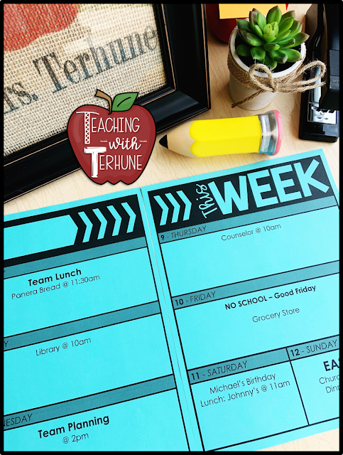Teacher Planner Pages