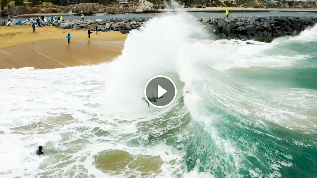 The Wedge Best Wipeouts of 2020 Raw Footage