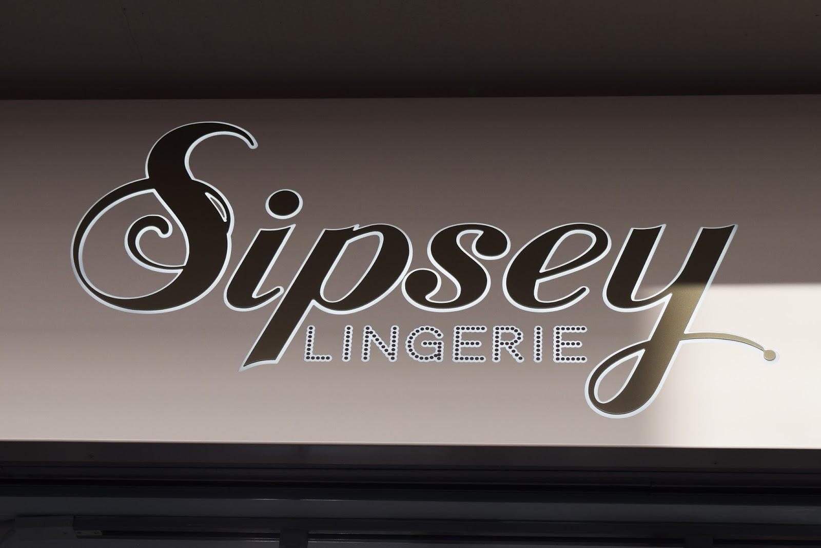 Sipsey Lingerie Store Front in Solihull