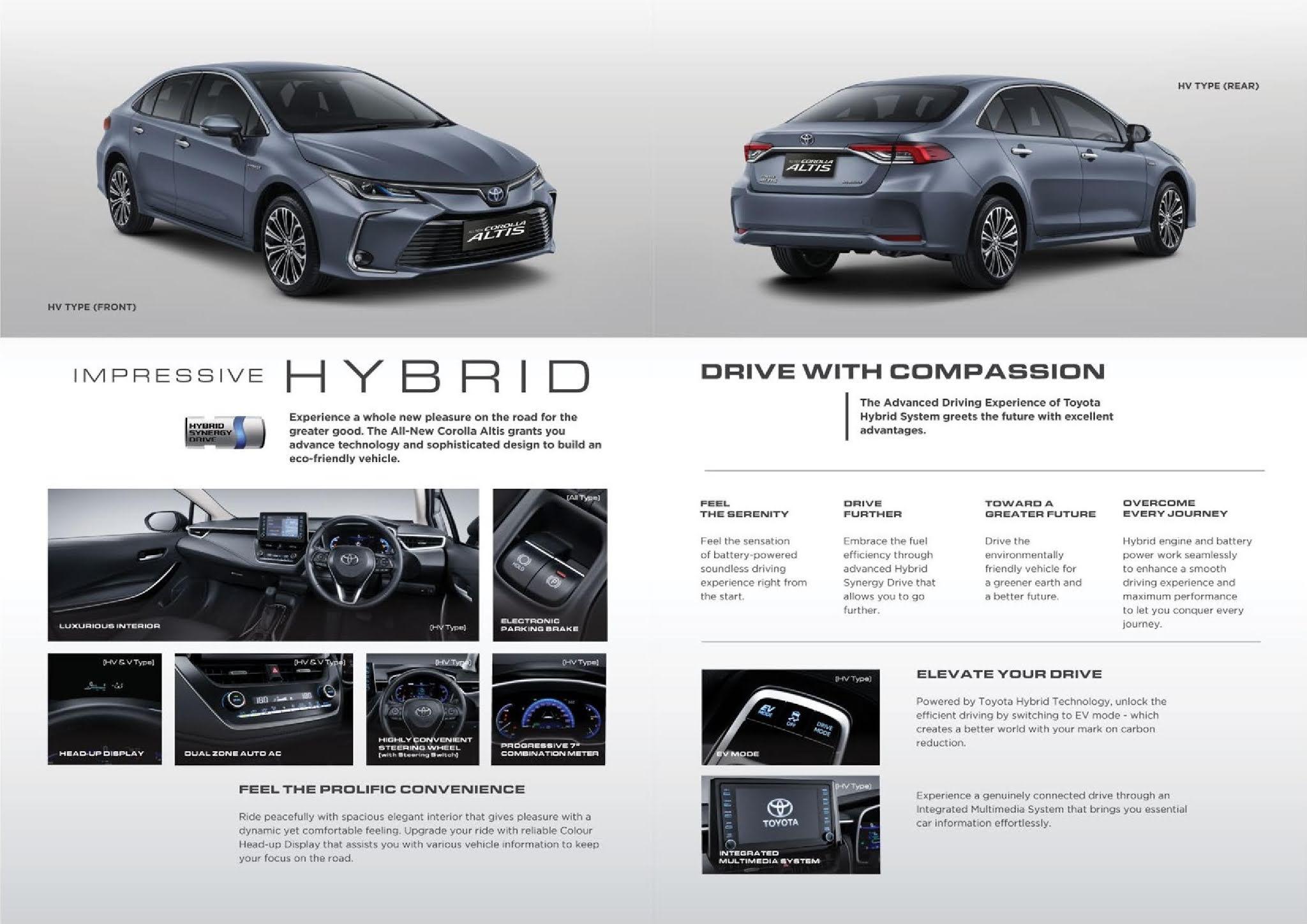 Brosur Toyota Altis Hybrid