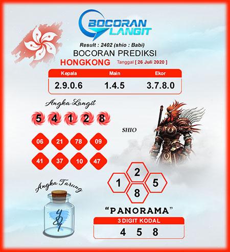 Bocoran HK Minggu 26 Juli 2020