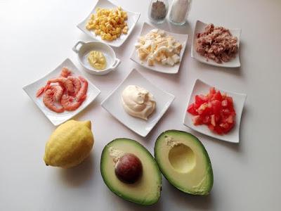 ingredientes aguacates rellenos
