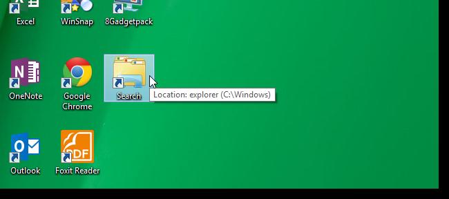 Cara Membuat Shortcut 'Pencarian' Di Windows 8