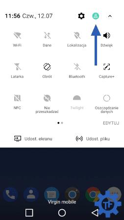 Ikona zmiany użytkownika