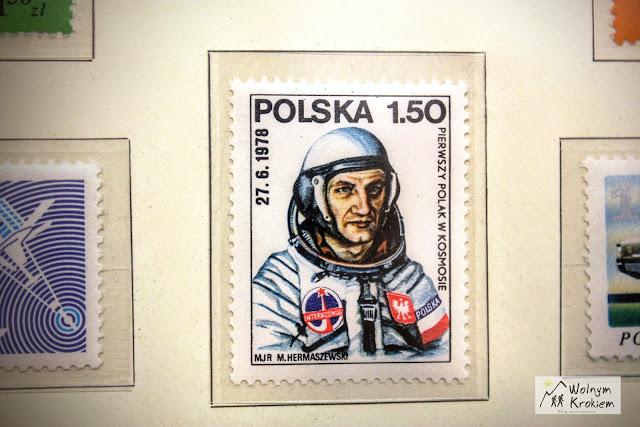 Pierwszy polak w kosmosie znaczek pocztowy