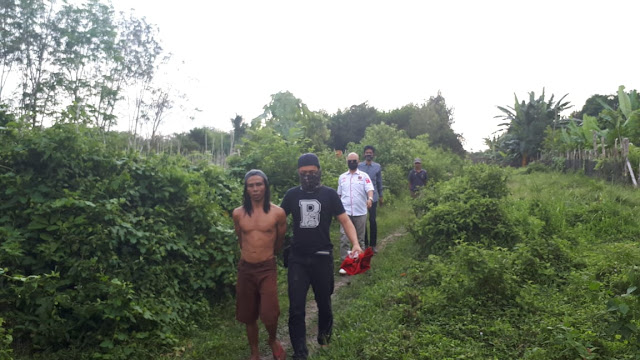 Unit Pidsus Sat Reskrim Polres Muba, Tanangkap Seorang Pelaku Pembakar Hutan