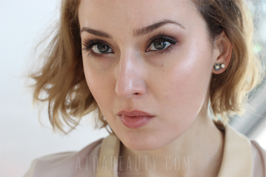 Neutral eyes makeup look / Eveline • Quattro Eyeshadow • 04