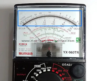 how to measure resistance using analog multimeter