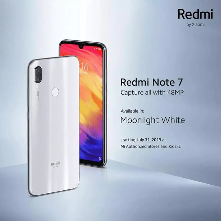 Redmi Note 7 Moonlight White Arrives in the Philippines