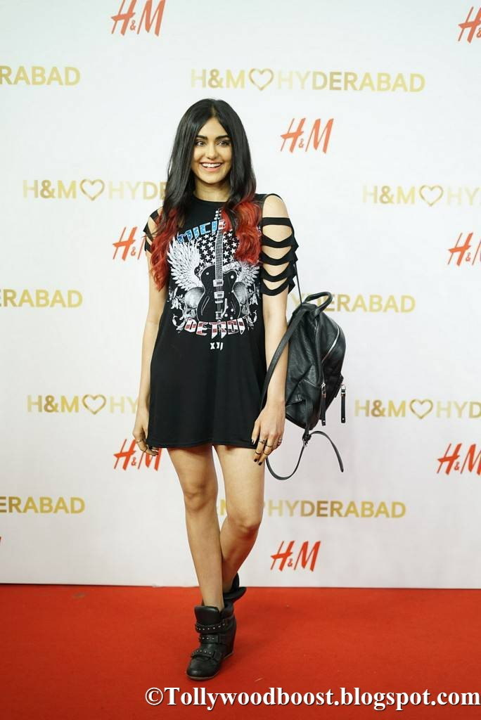 Adah Sharma Long Legs Thigh Show At Store Launch In Mini Black Short