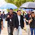 Alberto Contador, Carlos Coloma y Rocío del Alba en la primera jornada de FESTIBIKE