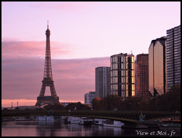 levé de soleil parisien