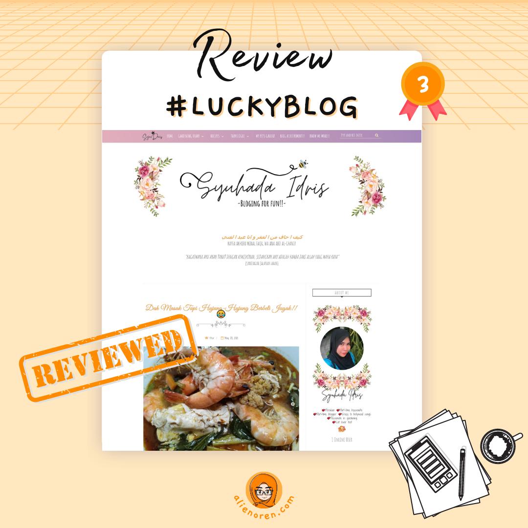 Review blog syu deris by AO