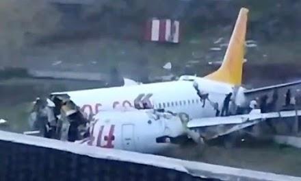Τουρκία: Αεροπλάνο με 177 επιβάτες κόπηκε στα δύο λόγο της σφοδρής βροχόπτωσης