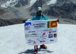 first Sri Lankan to climb the summit of Mount Everest