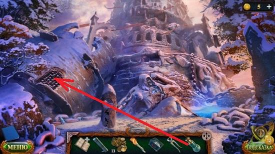 прожигаем решетку в руинах крепости в игре затерянные земли 5