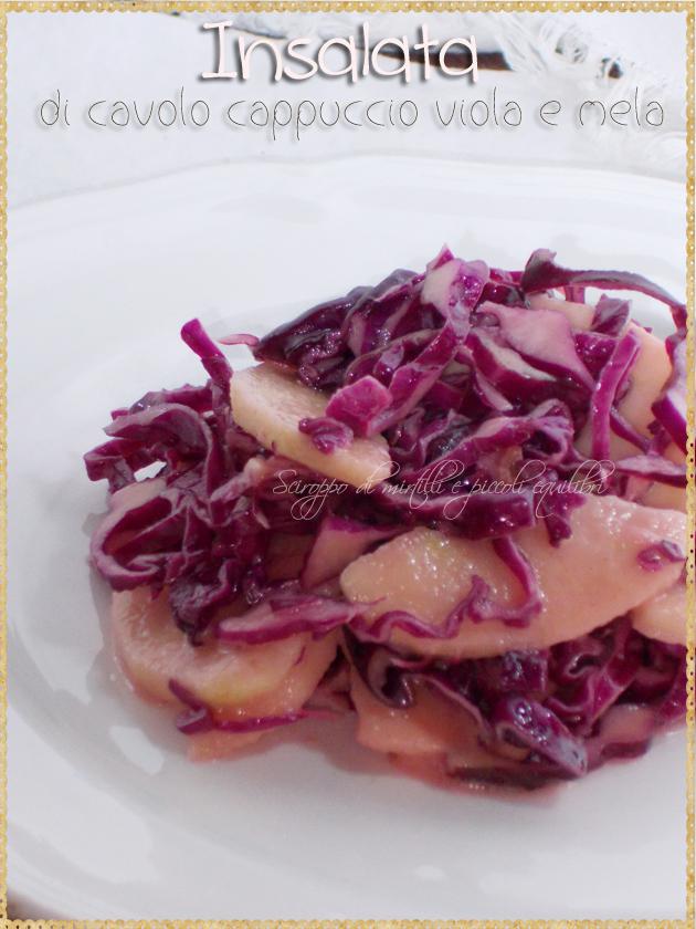 Insalata di cavolo cappuccio viola e mela