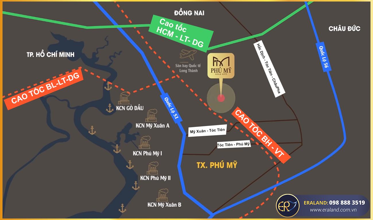 Vị trí chi tiết dự án Phú Mỹ Gold City