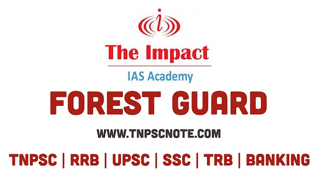 Impact IAS Academy Forest Guard Model Exam Question Papers with Answer Keys