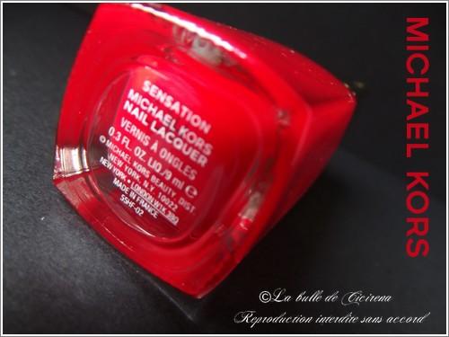 Nail lacquer, michael kors, blog beauté,
