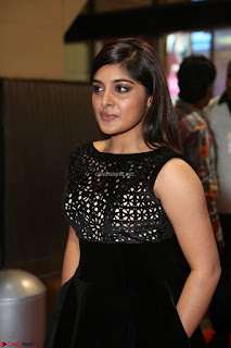 Niveda Thomas Black Sleeveless Cute Dress at 64th Jio Filmfare Awards South 2017 ~  Exclusive 071.JPG