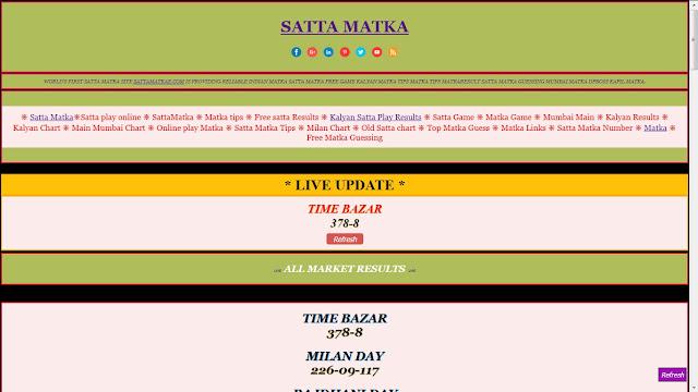 Satta Matka: Most Popular Lottery Game - MATKA RESULTS CHART
