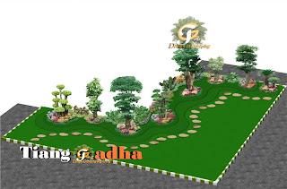 desain taman 3d