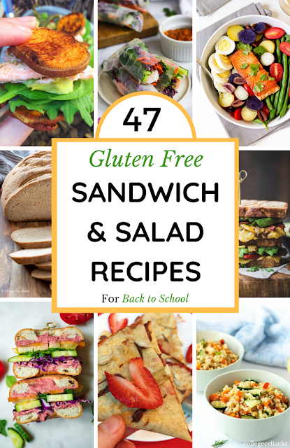 47 Gluten Free Sandwich, Salad and Wrap Recipes for Back to School