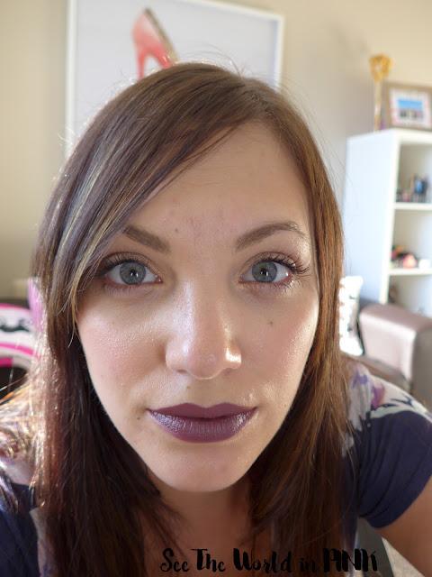 Ajani Cosmetics soft matte lipstick review mauve over