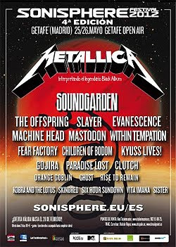 The Offspring, Evanescence o Machine Head al Sonisphere 2012