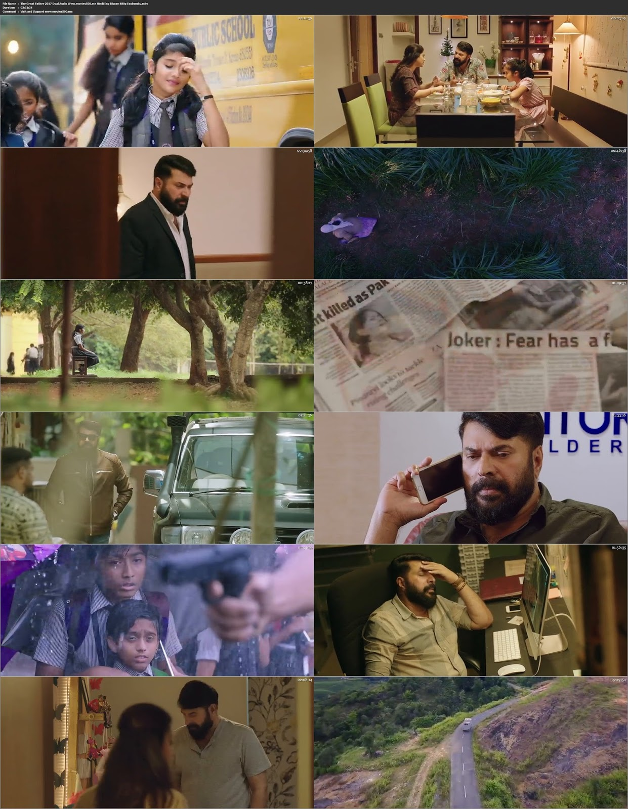 The Great Father 2017 Hindi Dubbed 400MB BluRay 480p at movies500.site