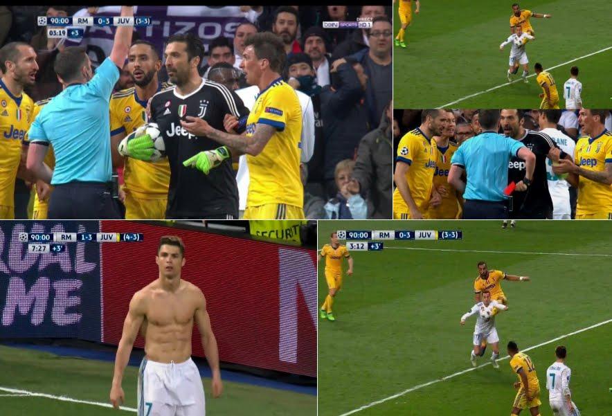 La Juventus domina al Bernabeu segnando 3 gol al Real Madrid ma viene eliminata da un arbitro vergognoso