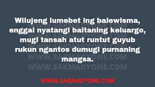 Selamat menempuh hidup baru dalam Bahasa Jawa