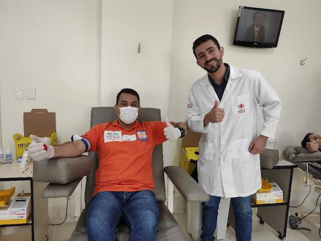 Defesa Civil de Petrópolis doa sangue ao BSHST