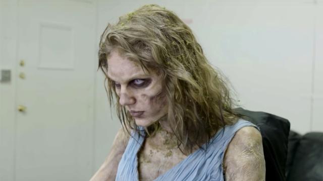¿Como se transformo Taylor Swift en zombie?