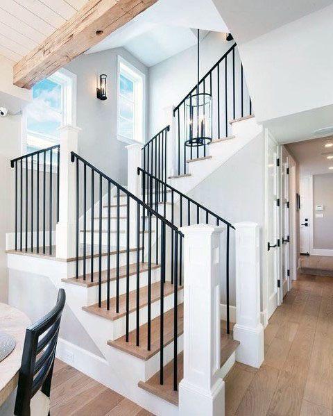 Desain Tangga Besi Rumah 2 Lantai
