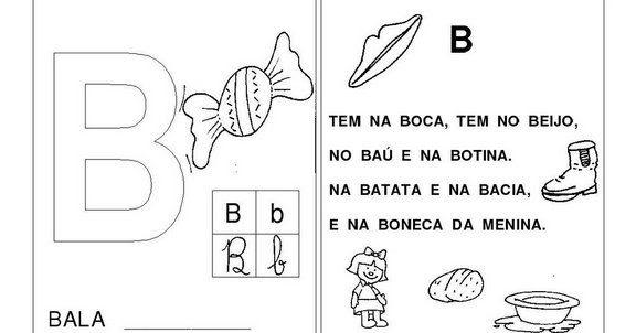23 09 B 1 Atividades Preparatórias 2 Ofertas: Notícias Ponto Com : Atividades Diversas Alfabetização Letra B