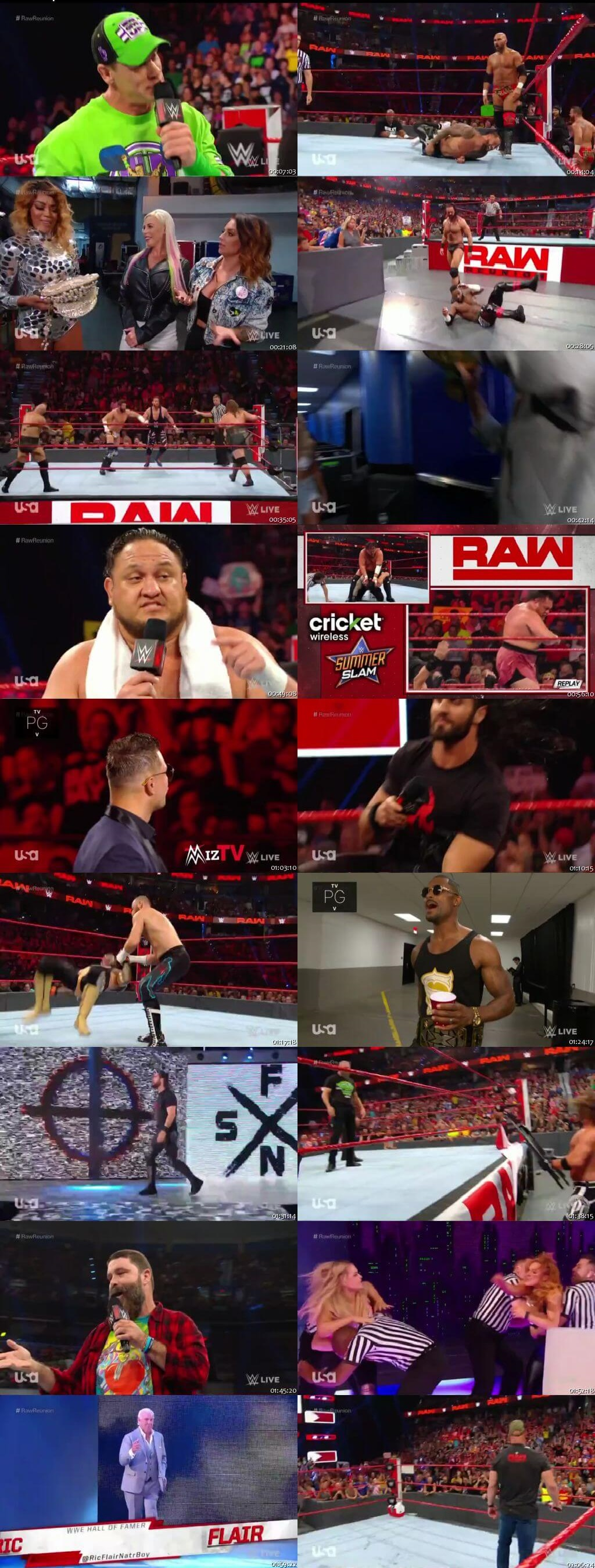 Screen Shot Of Wrestling TV Show WWE Monday Night Raw 22nd July Watch Online Free Download