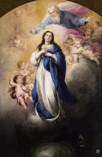 Inmaculada Concepción con el Padre Eterno - Murillo - Óleo sobre lienzo 1665-69 Museo de Bellas Artes de Sevilla