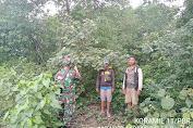 Kopda Hermansyah Babinsa Koramil 11/Pulau Burung Kodim 0314/Inhil Melaksanakan Patroli Karhutlah Terfokus di Desa Binangun