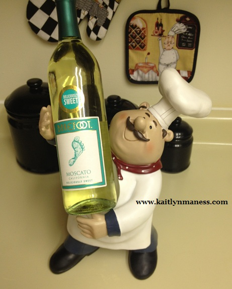 fat chef wine holder, barefoot moscato