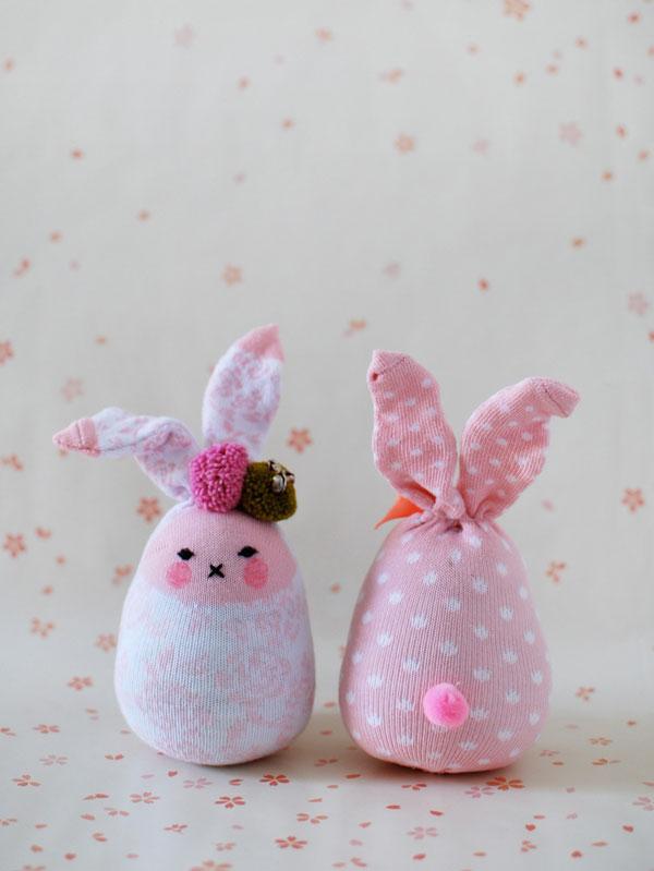 Un coniglio nel calzino